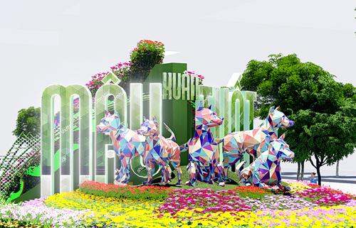 Đường hoa Nguyễn Huệ là sự kiện được rất nhiều người dân quan tâm mỗi dịp Tết đến xuân về.