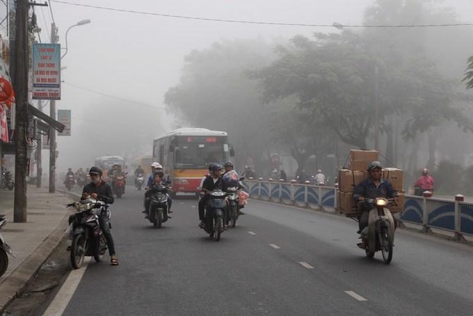 Huế chìm trong sương mù