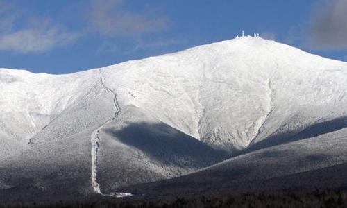 Đỉnh núi Washington trở thành nơi có nhiệt độ thấp thứ hai trên thế giới sáng hôm 6/1. Ảnh: USA Today.