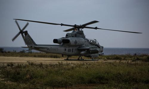 Trực thăng tấn công của Mỹ trên đảo Okinawa. Ảnh: Military Times.