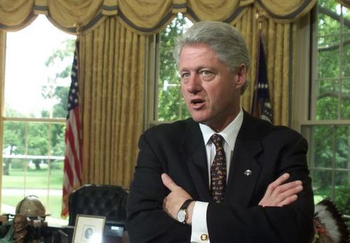 Cựu tổng thống Mỹ Bill Clinton khi còn tại nhiệm. Ảnh: AFP.