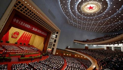 Đại hội đảng Cộng sản Trung Quốc lần thứ 19 ở Bắc Kinh. Ảnh: Xinhua.