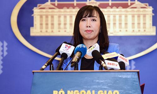 Người phát ngôn Bộ Ngoại giao Việt Nam Lê Thị Thu Hằng. Ảnh: Giang Huy.