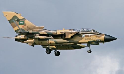 Một tiêm kích Tornado trong biên chế không quân Arab Saudi. Ảnh: Plane Spotter.