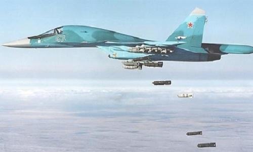 Máy bay Nga trong một cuộc không kích ở Syria. Ảnh: Sputnik.