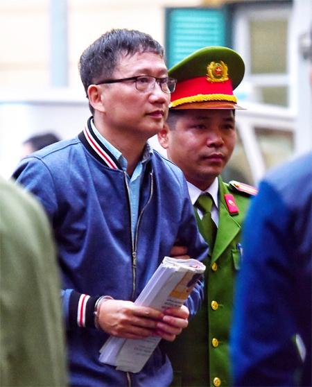 Ông Trịnh Xuân Thanh tại Tòa án Hà Nội.Ảnh: Giang Huy