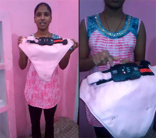 Kumari và chiếc quần lót nhằm ghi lạitrong các vụ cưỡng hiếp.
