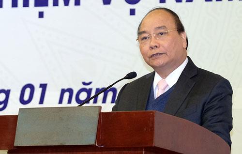 Thủ tướng Nguyễn Xuân Phúc phát biểu chỉ đạo Hội nghị. Ảnh: VGP