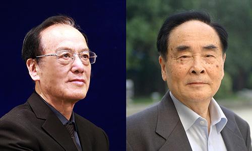 Chuyên gia Wang Zeshan (trái) và Giáo sư Hou Yunde (phải) cùngđược vinh danh ởgiải thưởng khoa học danh giá nhất năm. Ảnh:CGTN.