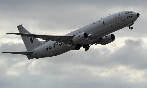 Trinh sát cơP-8A Poseidon của Mỹ. Ảnh:AFP.