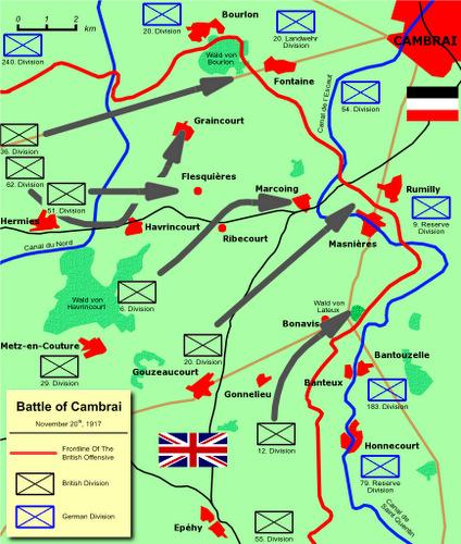Các mũi tấn công của quân đội Anh. Đồ họa: Wikipedia.
