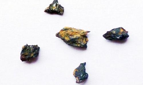 Các mảnh vỡ của viên đá Hypatia. Ảnh: Science Daily.