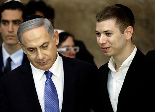 Thủ tướng Israel Benjamin Netanyahu và con traiYair Netanyahu