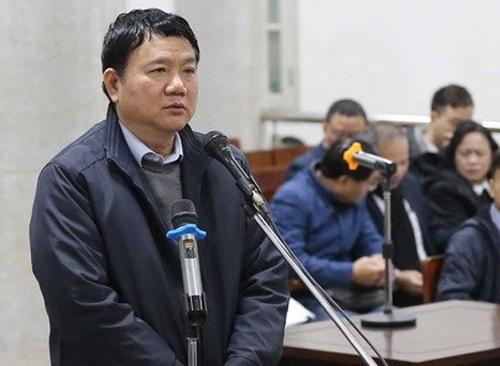 Ông Đinh La Thăng tại tòa trong sáng 10/1. Ảnh: VietnamPlus