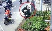 3 tên trộm bỏ cuộc dù đã phá được khóa chữ U xe máy