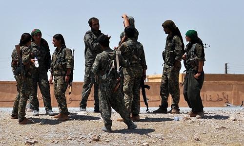 Thành viên Các đơn vị Bảo vệ Người dân người Kurd (YPG). Ảnh: AFP.
