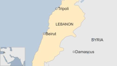 Vị trí thành phố Tripoli, Lebanon. Đồ họa: BBC.