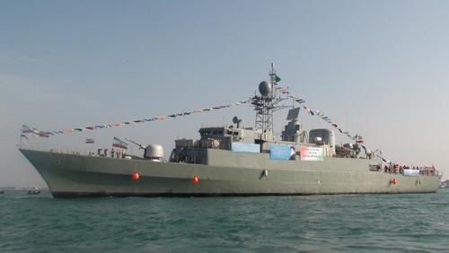 Tàu hộ vệ Damavand khi mới được hạ thủy. Ảnh: Wikipedia.