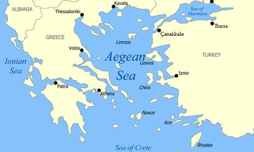 Vị trí biển Aegea. Đồ họa: Wikipedia.