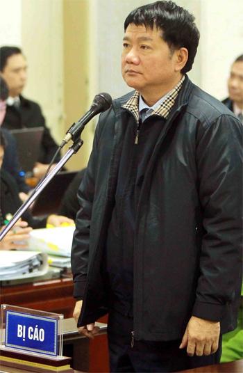 Ông Đinh La Thăng tại phiên xử ngày 11/1. Ảnh: TTXVN