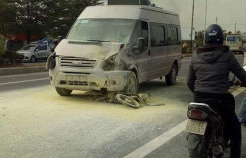 Hiện trường vụ tai nạn. Ảnh: CTV