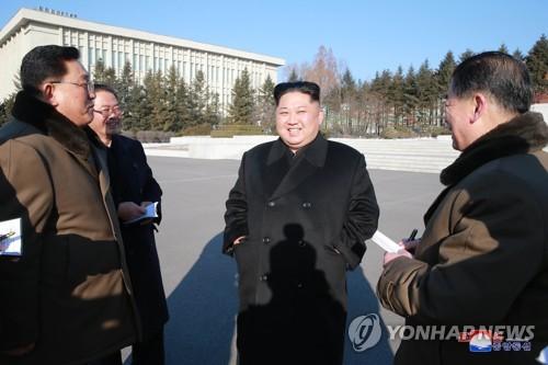 Lãnh đạo Kim Jong-un trong chuyến thị sát đầu năm. Ảnh: Yonhap.