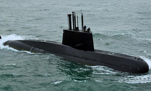Tàu ngầm ARA San Juan trong một chuyến ra khơi. Ảnh: Hải quân Argentina.