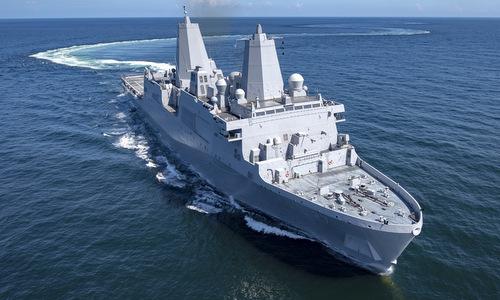 Mỹ lắp đặt vũ khí laser cho tàu đổ bộ hạng nặng