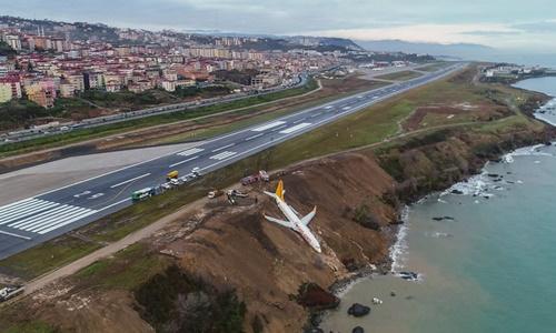 Hiện trường vụ tai nạn. Ảnh: AFP.