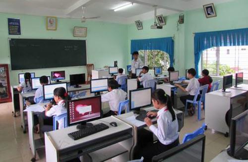 Hội thi tin học trẻ của học sinh THCS ở Đà Nẵng. Ảnh: Phòng Giáo dục huyện Hòa Vang.