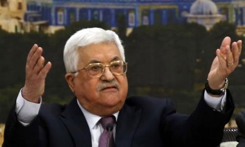 Tổng thống Palestine Mahmud Abbas. Ảnh: AFP.