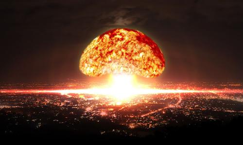 Một tên lửa hạt nhân có thể gây thiệt hại nặng nề cho thành phố lớn. Ảnh minh họa: QZ.