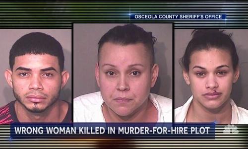 Ba nghi phạm Alexis Ramos-Rivera, Ishnar Lopez-Ramos và Glorianmarie Quinones-Montes. Ảnh: Cảnh sát hạt Osceola.