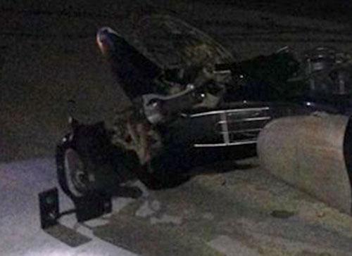 Xe máy của nạn nhân tại hiện trường. Ảnh: Đ.H