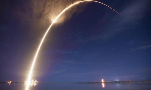 Lá chắn tên lửa Mỹ khai hỏa trong một lần diễn tập thử nghiệm. Ảnh:USAF.