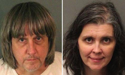 Cặp vợ chồng Mỹ bị nghi cầm tù, tra tấn 13 đứa con trong nhà
