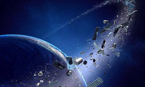 Rác vũ trụ bao vây quanh Trái Đất. Ảnh:Irish News.
