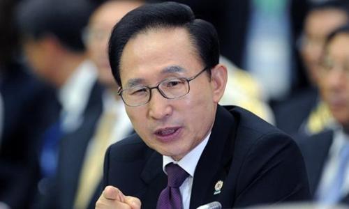 Cựu tổng thống HànLee Myung Bak. Ảnh: AFP.