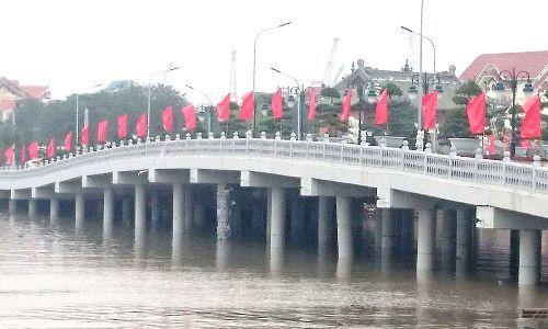 Cầu Tam Bạc bị tàu đâm hỏng