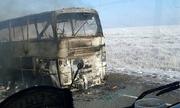Xe buýt bốc cháy làm hơn 50 người chết ở Kazakhstan