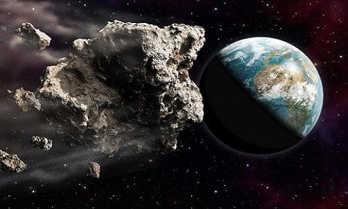 Minh họa tiểu hành tinh 2002 AJ129 sắp bay sượt qua Trái Đất. Ảnh: Oliver Denker.