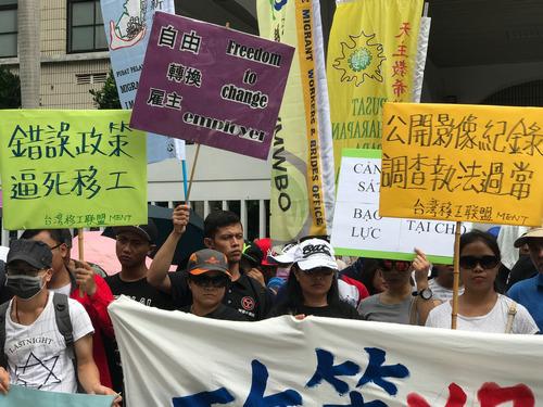 người Việt tại Đài Loan tổ chức biểu tình với cáo buộc cảnh sát lạm quyền hồi năm ngoái