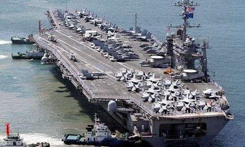 Tàu sân bay USS George Washington của Mỹ. Ảnh: US Navy.