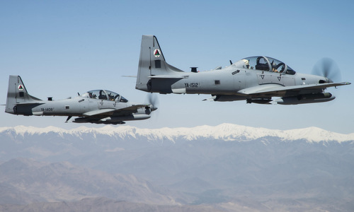 Máy bay Super Tucano tham gia chiến dịch chống Taliban tại Afghanistan. Ảnh: Wikipedia.