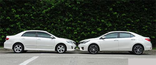 Ngay với một mẫu xe, sự thay đổi về kích thước trong vòng 15-20 năm qua rất rõ ràng. Ảnh: Paultan.
