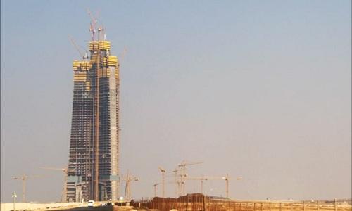 Tháp Jeddah trong quá trình xây dựng vào cuối năm ngoái. Ảnh: CNN.