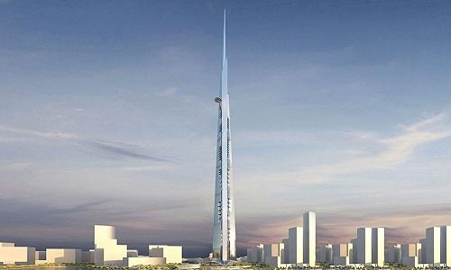 Tòa tháp cao nhất thế giới đang được xây ở Arab Saudi