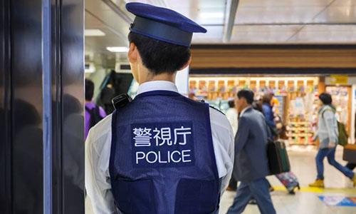 Cảnh sát Nhật Bản. Ảnh: Japan Times.