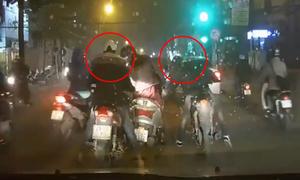 Cô gái bị hai thanh niên dàn cảnh cướp túi xách ở Hà Nội
