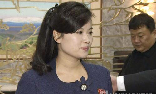 Hyon Song-wol, người dự kiến dẫn đầu đoàn Ban nhạc Moranbong của Triều Tiên đến Hàn Quốc. Ảnh: Yonhap.